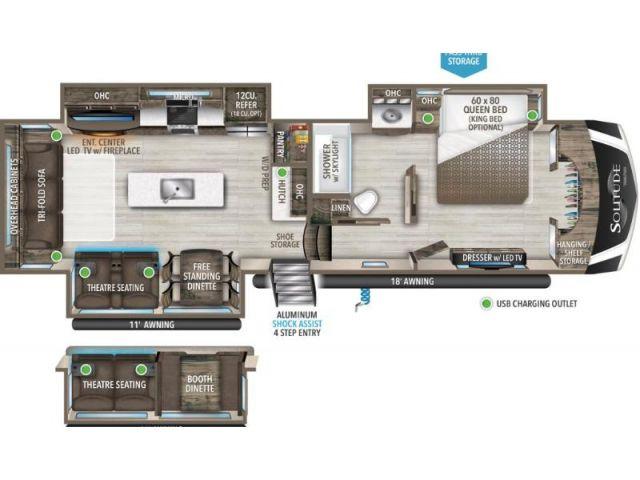 Fifth Wheel Travel Trailer Grand Design Solitude S Class 3540GK Cotton
