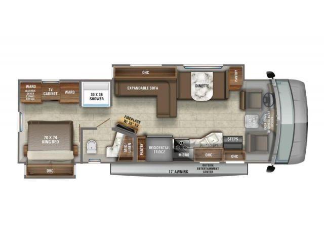 Motorisé de classe A Jayco Precept 34B Modern Farmhouse Graphiques Oyster Bay