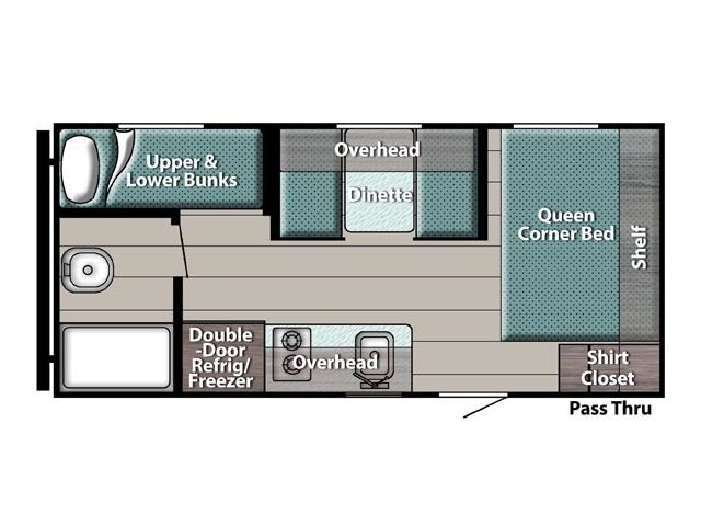 Roulottes et caravanes à sellette Gulfstream Ameri Lite Super 199DD Silver