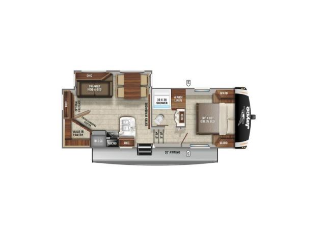 Caravanes à sellette Eagle Jayco Eagle HT 24RE American Craftsman