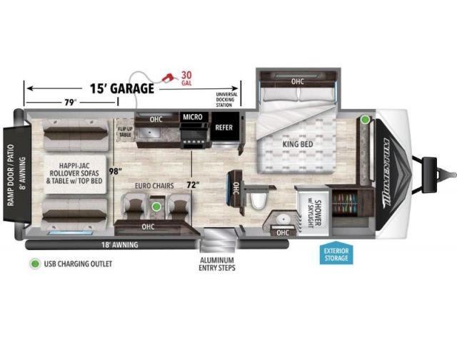 Roulottes cargo Momentum G-Class Grand Design Momentum G Class 23G Slate