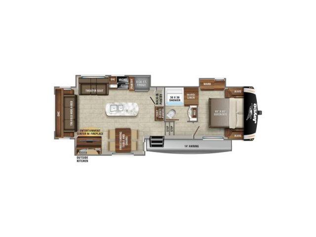 Caravanes à sellette Eagle Jayco Eagle HT 30 5RSOK Modern Farmhouse