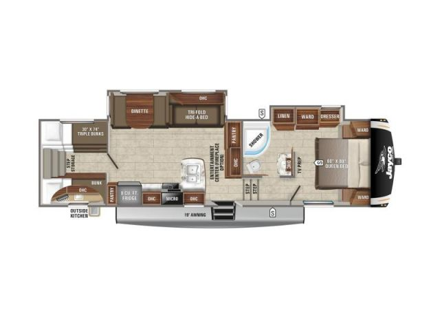 Caravanes à sellette Eagle Jayco Eagle HT 29 5BHOK Modern Farmhouse