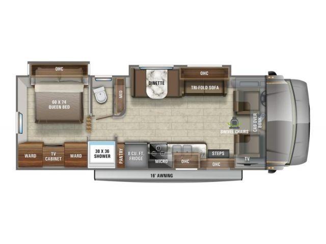 Motorisés de classe C Greyhawk Jayco Greyhawk 29MV Modern Farmhouse Graphiques Platinum