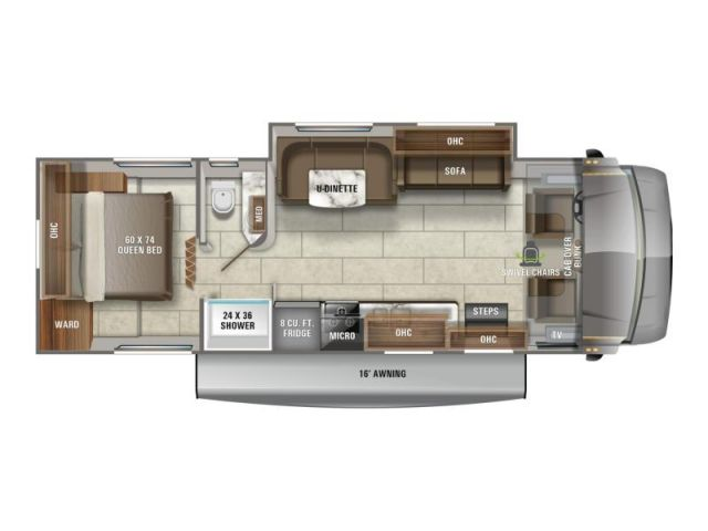 Motorisé de classe C Jayco Redhawk 29XK Modern Farmhouse