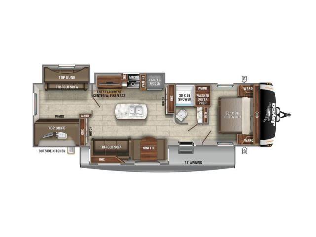 Eagle Jayco Eagle HT 312BHOK Modern Farmhouse