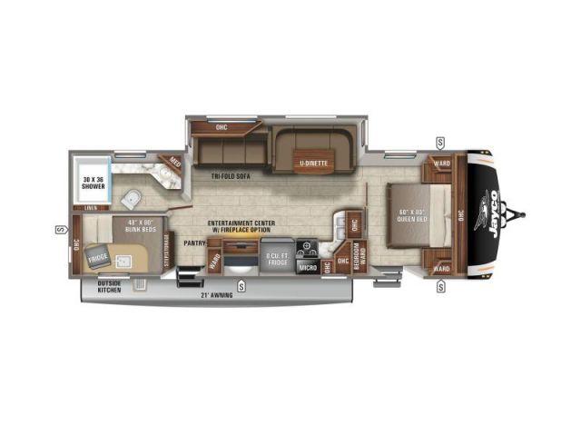 Eagle Jayco Eagle HT 284BHOK Modern Farmhouse