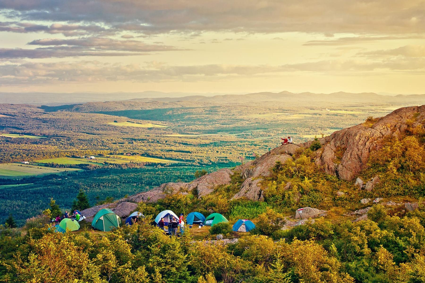 camping sur le Mont Ham